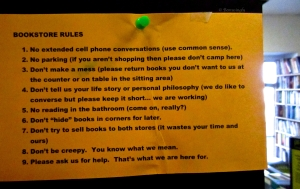 Bookstore Rules